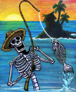 skeleton fishing