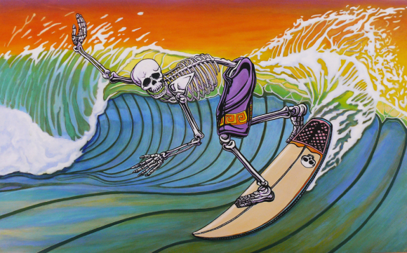 Skeleton Surf Art