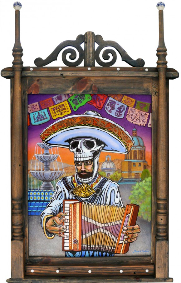 Mexoskeleton Accordion Player