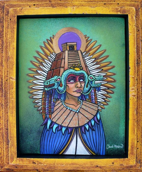 Queen of Mictlan Aztec Art