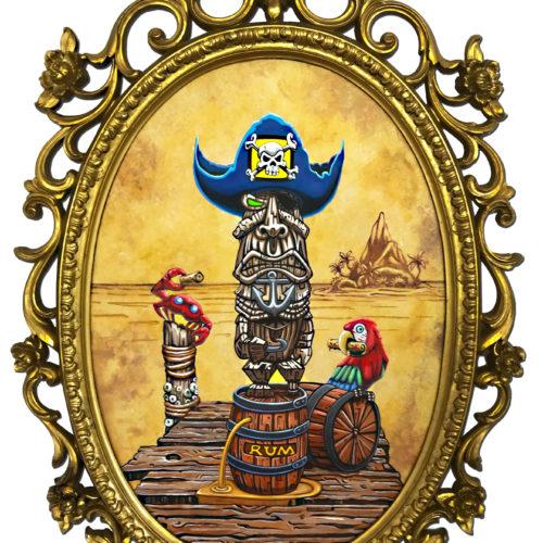 Pirate Tiki Art