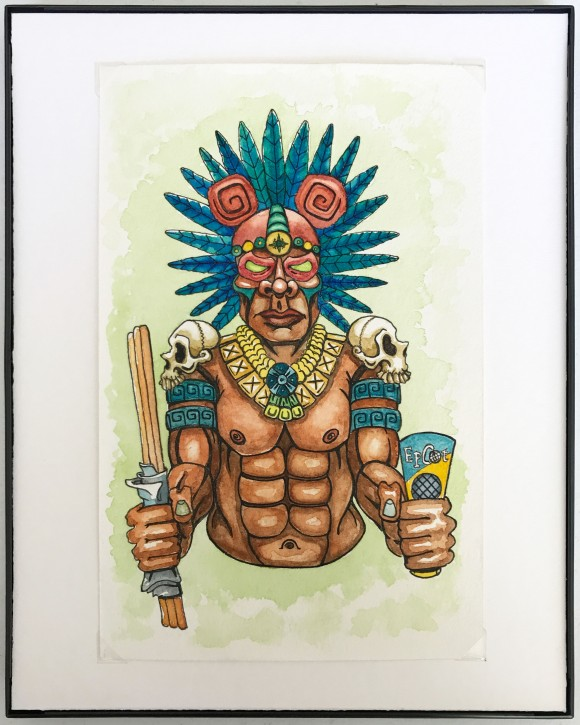 Epcot_Aztec_framed