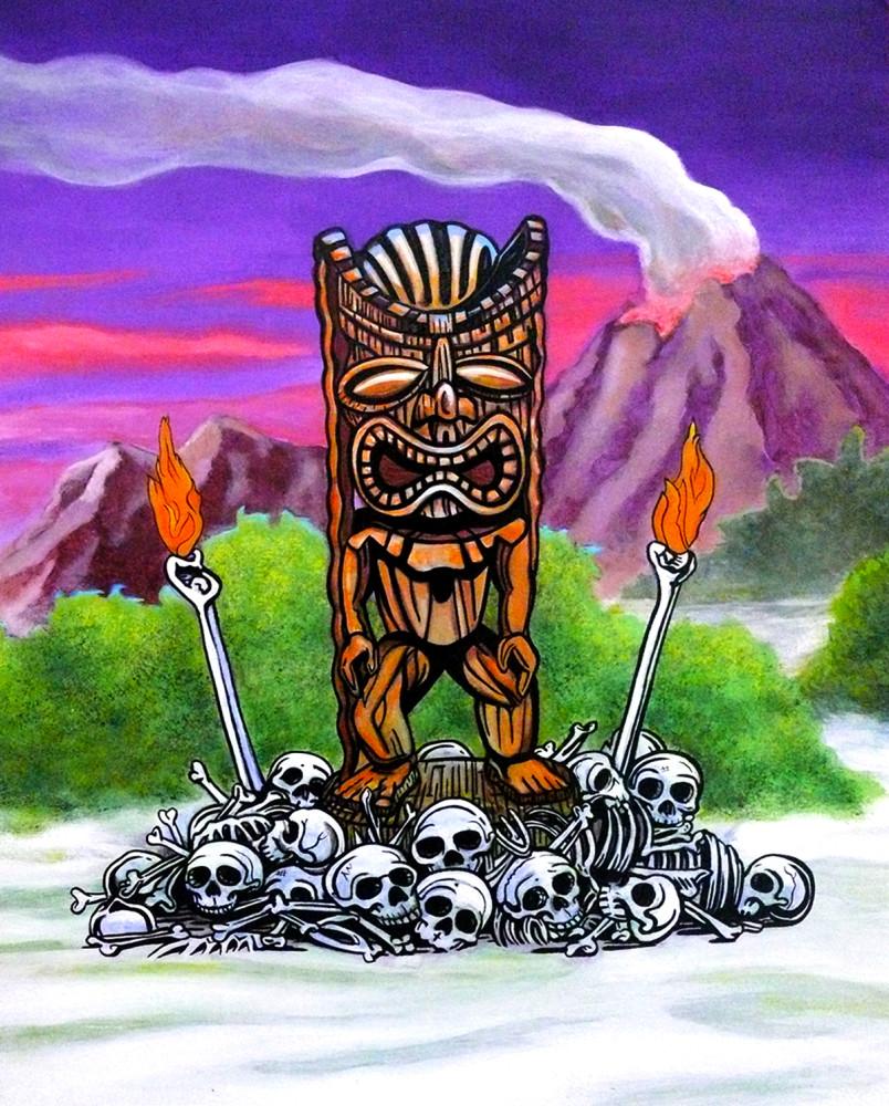 Tiki Art The Hawaiian God Of Sacrifice Ku