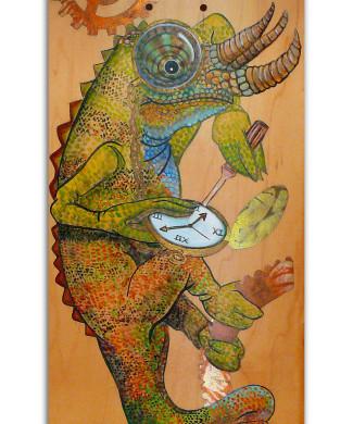 chameleon skate deck