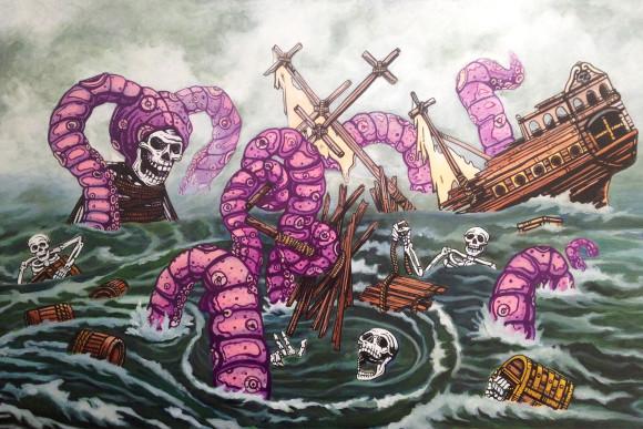 Skeleton Pirate Ship