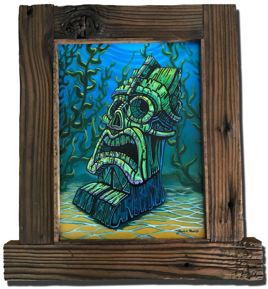 Tiki wall art from hawaii by jacob medina losttikifamed stopboris Gallery